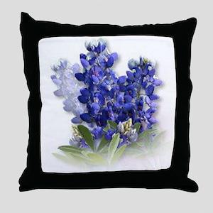 Bluebonnet Spray Throw Pillow