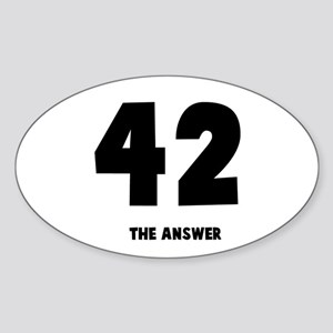 42 the answer to the question Oval Sticker