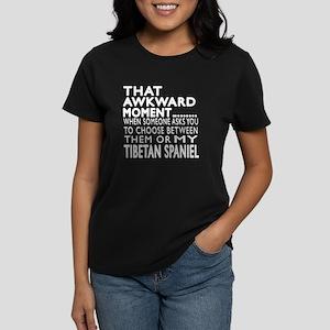 Awkward Tibetan Spaniel Dog D Women's Dark T-Shirt
