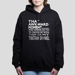 Awkward Tibetan Spaniel Women's Hooded Sweatshirt