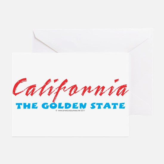California - Golden State Greeting Cards (Package