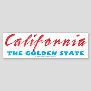 California - Golden State Bumper Sticker