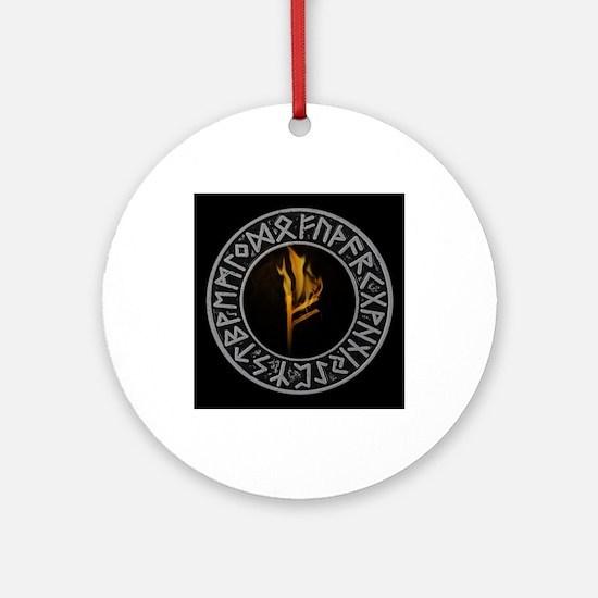 Runes Round Ornament