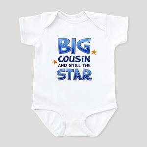 Big Cousin - Star (Blue) Infant Bodysuit