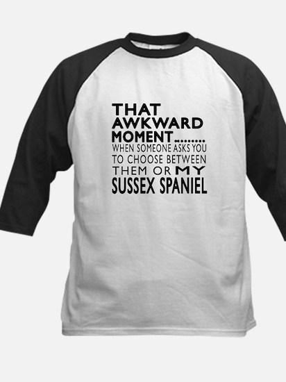 Awkward Sussex Spaniel Dog De Kids Baseball Jersey