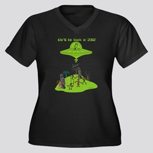 2012 Women's Plus Size V-Neck Dark T-Shirt