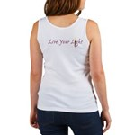 Live Your Light Women's Tank Top (back shown)