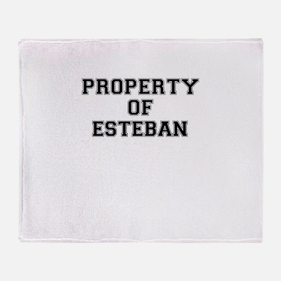 Property of ESTEBAN Throw Blanket