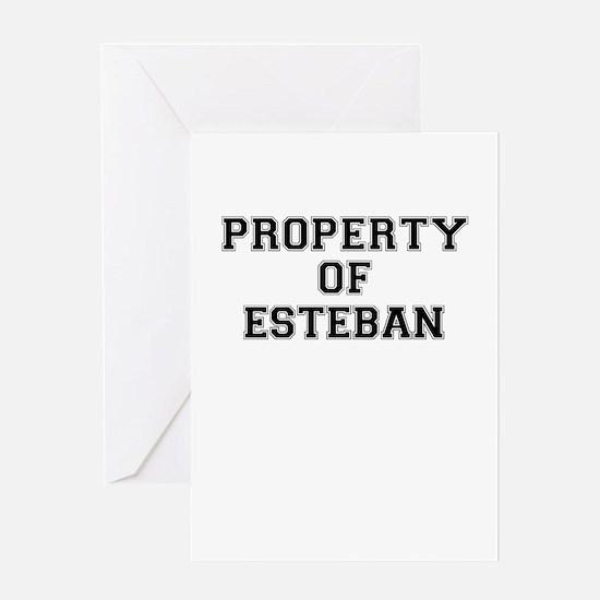 Property of ESTEBAN Greeting Cards