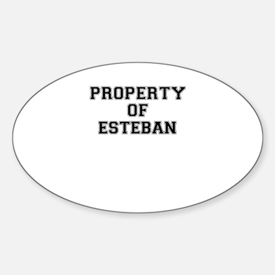 Property of ESTEBAN Decal