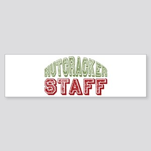 Nutcracker Staff Christmas Ballet Bumper Sticker