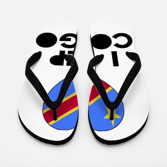 I Rep Congo Country Flip Flops