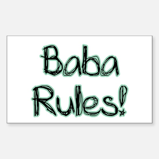 Baba Rules! Rectangle Decal