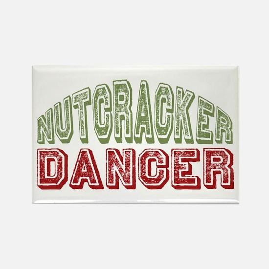 Nutcracker Dancer Christmas Ballet Rectangle Magne