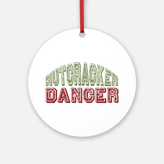Nutcracker Dancer Christmas Ballet Ornament (Round