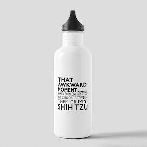 Awkward Shih Tzu Dog D Stainless Water Bottle 1.0L