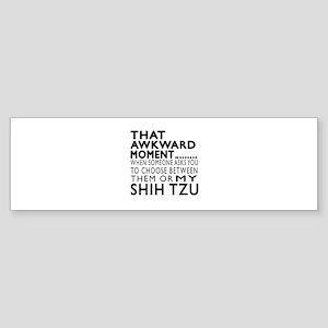 Awkward Shih Tzu Dog Designs Sticker (Bumper)