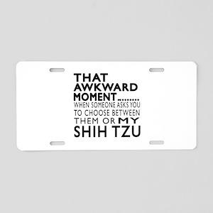 Awkward Shih Tzu Dog Design Aluminum License Plate