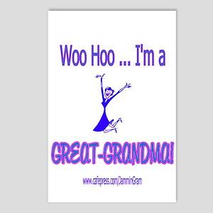 WOO HOO GREAT-GRANDMA Postcards (Package of 8)