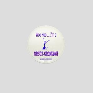 WOO HOO GREAT-GRANDMA Mini Button