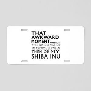 Awkward Shiba Inu Dog Desig Aluminum License Plate