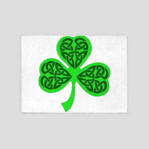 Celtic Knot shamrock 5'x7'Area Rug