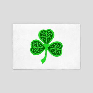 Celtic Knot shamrock 4' x 6' Rug