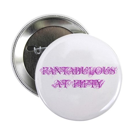 """Fantabulous At Fifty 2.25"""" Button (100 pack)"""