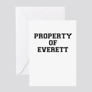 Property of EVERETT Greeting Cards