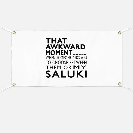 Awkward Saluki Dog Designs Banner