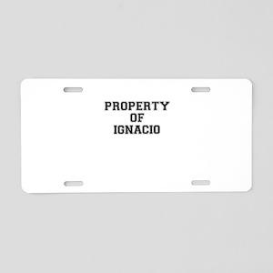 Property of IGNACIO Aluminum License Plate