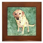 Southern Yellow Lab Framed Tile