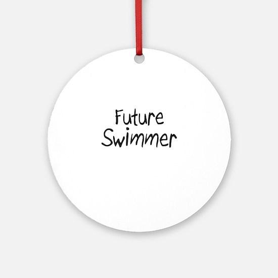 Future Swimmer Ornament (Round)