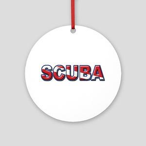 SCUBA Ornament (Round)