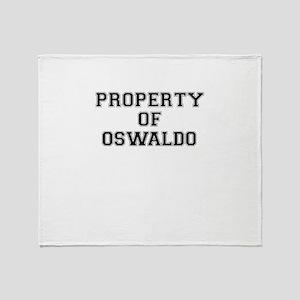 Property of OSWALDO Throw Blanket
