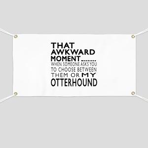 Awkward Otterhound Dog Designs Banner