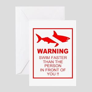 Shark Warning Greeting Card