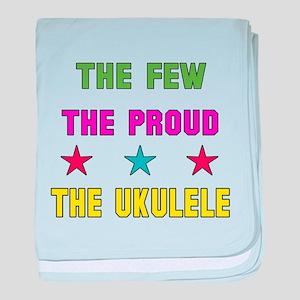 The Few, The Proud, The Ukulele baby blanket