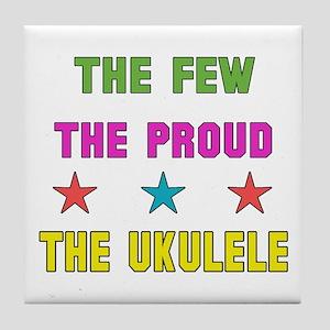 The Few, The Proud, The Ukulele Tile Coaster