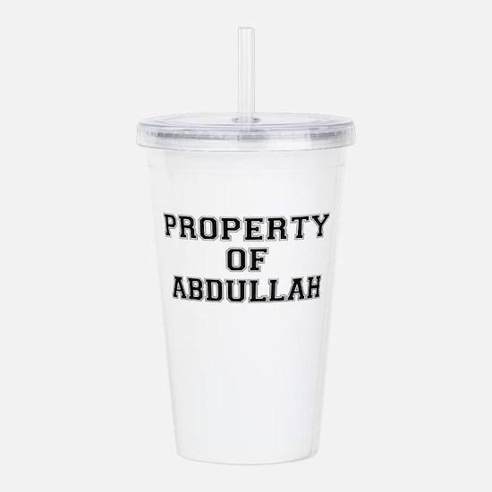 Property of ABDULLAH Acrylic Double-wall Tumbler