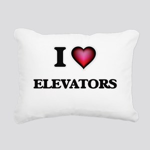 I love ELEVATORS Rectangular Canvas Pillow