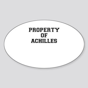 Property of ACHILLES Sticker