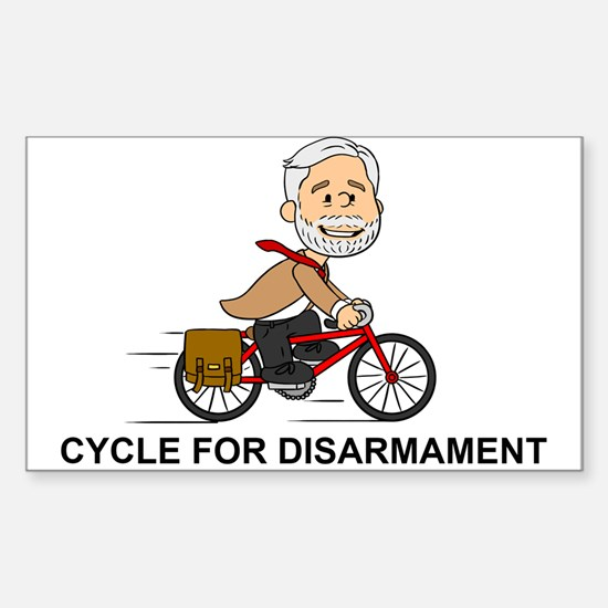Corbyn Cycle For Disarmament Decal
