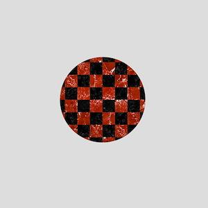 SQUARE1 BLACK MARBLE & RED MARBLE Mini Button