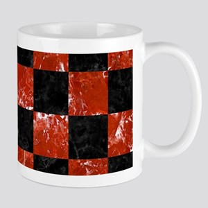 SQUARE1 BLACK MARBLE & RED MARBL 11 oz Ceramic Mug