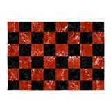 Red and black checkered Area Rugs