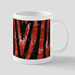 SKIN4 BLACK MARBLE & RED MARBLE 11 oz Ceramic Mug