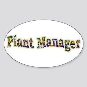 Pansy Plant Manager Oval Sticker