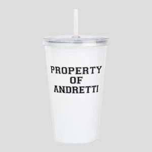 Property of ANDRETTI Acrylic Double-wall Tumbler