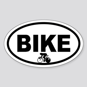 Cycling Racer Oval Sticker